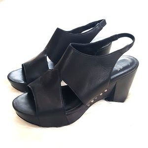 Eileen Fisher Shoes - Eileen Fisher Black Leather Platform Sandals